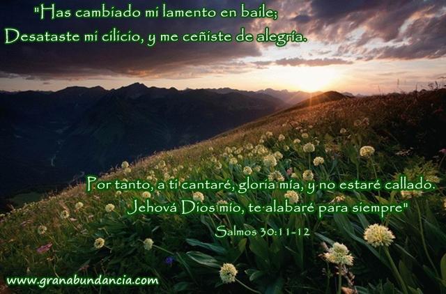 Jehov   Dios M  O  Te Alabar   Para Siempre    Salmos 30 11 12